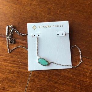 Kendra Scott Elisa silver chalcedony necklace